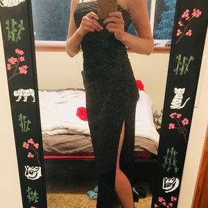 Formal Sleeveless Split Skirt Dress